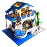 Оригинал T-Yu TB6-Z Голубая мелодия DIY Кукла Дом с обложкой Music Light Подарочная коллекция Decor Toy