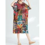 Оригинал Plus Размер Casual Женское Геометрический короткий рукав Платье
