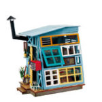 Оригинал Robotime DG-M03 DIY Doll House Miniature With Furniture Wooden Dollhouse Toy Decor Craft Gift