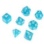 Оригинал 7 шт. Многогранные кубики TRPG Набор из полиэдрических кубиков RPG Dices Set Gadget с Сумка
