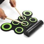 Оригинал 7 барабанных колодок Портативная рулонная электронная барабанная колодка Набор со спикером для детских подарков DTX Drum Game