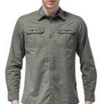 Оригинал Мужские хлопчатобумажные изделия На открытом воздухе Рубашки с длинными рукавами