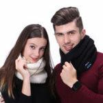 Оригинал Мужская женская теплая беспроводная Bluetooth Музыка вязаный шарф