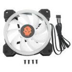 Оригинал 12V 12cm RGB LED Охлаждающий вентилятор 3pin 4pin PC Чехол Охладитель охлаждающего вентилятора