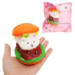 Оригинал Squishy Кот Гамбургер 10 * 8 см Медленная восходящая игрушка с упаковкой Сумка Подарочная коллекция