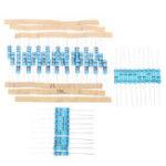 Оригинал 50pcs 5 Значения 0.33-2.7Ohm 0.33 1 1.5 2.2 2.7 Ohm 2W Резистор металла сопротивления резины 10pcs Каждое значение
