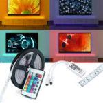 Оригинал DC12V 5M SMD2835 24W Водонепроницаемы Alexa Smart Home WIFI Controller APP Control RGB LED Полоса света
