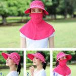 Оригинал Женское Summer Wide Birm Face Маска Шея Солнцезащитный крем Sun Шапка