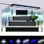 Оригинал 20W 150 LED Аквариум Свет для всего спектра света для света для рыбы с выдвижными кронштейнами AC100V-240V