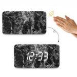 Оригинал LoskiiHC-21Цифровойдвойнойблокпитания Мраморный голосовой контроль LED Экран Дисплей Термометр Тревога Часы