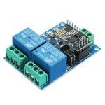 Оригинал 5V ESP8266 Двойной модуль ретрансляции WiFi Интернет вещей Smart Home Mobile APP Дистанционный Switch