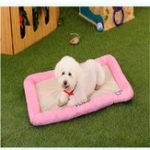 Оригинал Pet Собака Кровати Anti-Bite Ice Silk Mesh Cloth Собака Кот Кровать House Kennel Nest Pet Bed Собакаs Подушка