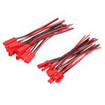 Оригинал 10 Пары 2 Штыри JST Женский + Мужской Коннектор Штекерный кабель Провод Линия 110 мм Красный