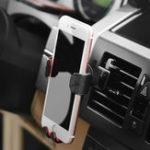 Оригинал HOCO CA22 Gravity Auto Замок Вращение на 360 градусов Авто Держатель для воздуховода для держателя для Samsung iPhone X