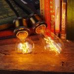 Оригинал LEORY Винтаж Industrial Edison E27 40W Теплый свет Двойная звезда / одиночная звезда AC220V Лампа накаливания