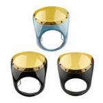 Оригинал Universal Cafe Racer Handlebar 7inch Прожектор для лобового стекла для Harley