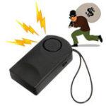 Оригинал Портативная дверь Датчик Сигнальная дверная ручка Alarm Alarm Alarm 120dB Сирена для защиты от кражи