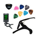 Оригинал JOYO Clip-On Chromatic Acoustic Guitar Tuner с 7 играми для гитары Скрипка Ukelele Bass