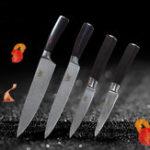 Оригинал 4PcsXYjKitchen7Cr17Утилитадля шеф-повара из нержавеющей стали Набор ножей из нержавеющей стали Paring Utility Шеф-повар Slicing Knife цвет Wood Hand