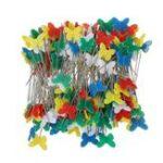 Оригинал 200Pcs Цветной бабочки Shaped Иглы Круглый лук Цветочный Pin Шитье Pin с Коробка DIY Набор