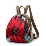 Оригинал Women Nylon Flower Pattern National Style Handbag