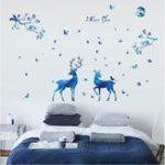 Оригинал Miico3DТворческийПВХстенынаклейки Home Decor Mural Art Съемный олень животных декор наклейки