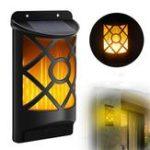 Оригинал 66 LED Мерцание Солнечная Сад Свет На открытом воздухе Водонепроницаемы Танцующая пламенная стена Лампа