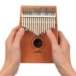Оригинал 17 клавиш Мини-палец Калимба Thumb Piano African Percussion Музыкальный инструмент