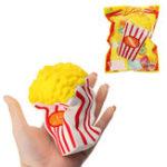 Оригинал Sunny Popcorn Squishy 15CM Медленный рост с упаковкой Cute Jumbo Soft Сжатый ремешок Ароматизированная игрушка