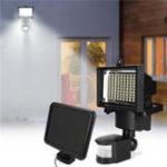 Оригинал 100 LED Солнечная Lights PIR Motion Датчик Flood Light На открытом воздухе Сад Security Wall Лампа