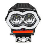Оригинал 20W 12 / 80V IP68 2000LM LED мотоцикл Angel Eyes USB Headlight Spotlight