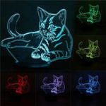 Оригинал 3D Cute Кот Night Light USB Charge Touch Control 7 Изменение цвета LED Стол Лампа Room Decor Gift