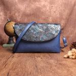 Оригинал Brenice National Style Retro Embossed Floral Handbag Shoulder Crossbody Bag