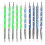 Оригинал 5 X 2 Way Ball Styluses Dotting Набор Силиконовый Color Shaper Кисти Ручка для керамической глины Керамика