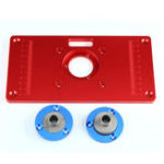 Оригинал Многофункциональный красный алюминиевый сплав Router Table Insert Пластина Для деревообрабатывающей гравировальной машины
