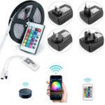 Оригинал 5M SMD2835 Alexa Smart Home WIFI Controller APP Control Non-водонепроницаемый RGB LED Strip Light DC12V