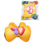 Оригинал Kiibru Клубничный тост Squishy 14,5 * 11 * 3 см Медленный рост с подарком коллекции упаковки Soft Игрушка