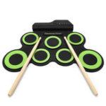 Оригинал Цифровой рулон с электронным рулоном Набор 7 Силиконовые барабанные колодки Питание от порта USB G7D4