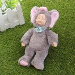Оригинал 25см Светло-серый Слон одежды Новорожденный Спящий Soft Винил Reborn Baby Кукла Подарочная игрушка