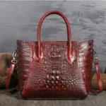 Оригинал НатуральнаяКожаРетроновыйбольшойсумочки крокодил сумка сумка