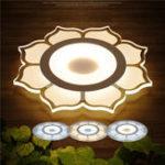 Оригинал 15W Современный цветочный акрил LED Потолочные светильники Гостиная Спальня Домашнее освещение Лампа AC220V