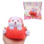 Оригинал Leilei Собака Bone Bread Squishy 11cm Медленный рост с подарком коллекции упаковки Soft Toy