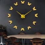 Оригинал Large3DDIYСтенаЧасыГлавная декора Зеркало наклейка Art Часы