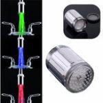 Оригинал ABS Материал LED Температура смесителя Температура Датчик 3 Цвет Нет Батарея Водопроводный кран Смеситель Glow Shower