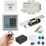 Оригинал 125KHz RFID ID Keyfobs One Машина контроля доступа дверей Набор Электрическая дверь с дистанционным управлением Замок