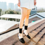 Оригинал Women Summer Thin Breathable Middle Tube Socks