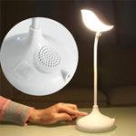 Оригинал Интеллектуальный стол Лампа Bluetooth Динамик с микрофоном Hands-free Call Eye Protection Bird Shape
