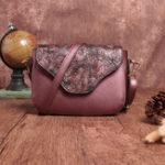 Оригинал Brenice Women Retro Embossing Floral Shoulder Crossbody Bag
