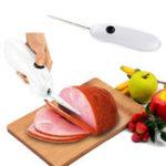 Оригинал Электрическийнождлястейкаизговядины Нож из нержавеющей стали Электрический кливер One-Touch Action Kitchen BBQ Набор