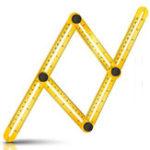 Оригинал Multi Angle Measurement Ruler измеряет все углы измерения угла зрения Набор